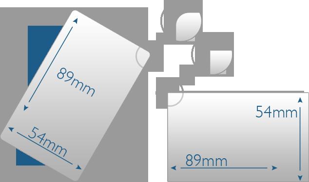 Käyntikorttien kulmat (pyöristetty ja terävä)