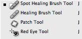 Photoshop CS2: työkalut: Laastarityökalut / Healing tools