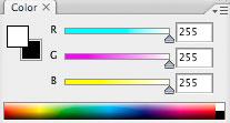 Photoshop CS2: paletit: värit / Color