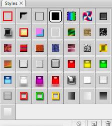 Photoshop CS2: paletit: Tyylit / Styles