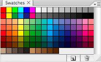 Photoshop CS2: paletit: Väripaletit / Swatches