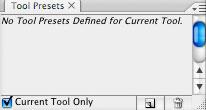 Photoshop CS2: paletit: Työkalujen asetukset / Tool Presets