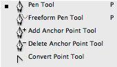 Photoshop CS2: työkalut: Reittikynät / Pen tools