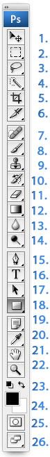 Photoshop CS2: työkalut