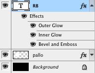 Tasotyylien näkymä tasot-ikkunassa (layers)