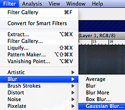 sumennus (Gaussian blur) -toiminto filttereissä
